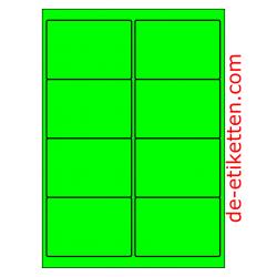 99 x 68 mm 100 Blatt p. Karton GRÜN FLUOR
