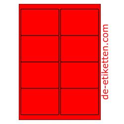 99 x 68 mm 100 Blatt p. Karton ROT FLUOR