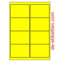 99 x 68 mm 100 Blatt p. Karton GELB FLUOR