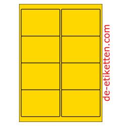 99 x 68 mm 200 Blatt p. Karton PolyMasterVinyl GELB