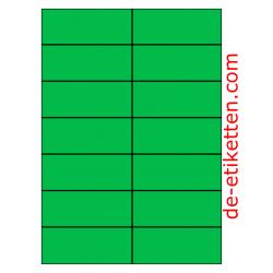 105 x 42 mm 100 Blatt p. Karton GRÜN
