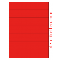 105 x 42 mm 100 Blatt p. Karton ROT