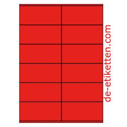 105 x 48 mm 100 Blatt p. Karton ROT