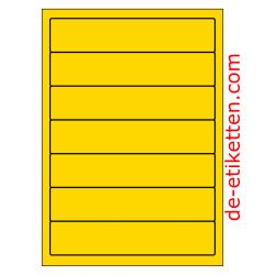 192 x 39 mm 100 Blatt p. Karton GELB