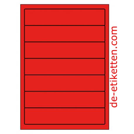 192 x 39 mm 100 Blatt p. Karton ROT