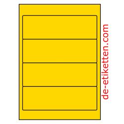 192 x 62 mm 100 Blatt p. Karton GELB