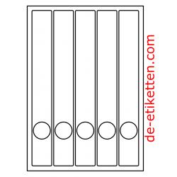 37 x 280 mm Schmale Ordner 100 Blatt p. Karton Weiß