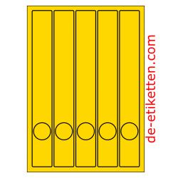 37 x 280 mm Schmale Ordner 100 Blatt p. Karton GELB