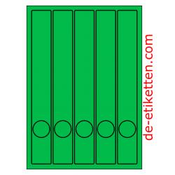 37 x 280 mm Schmale Ordner 100 Blatt p. Karton GRÜN