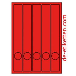 37 x 280 mm Schmale Ordner 100 Blatt p. Karton ROT