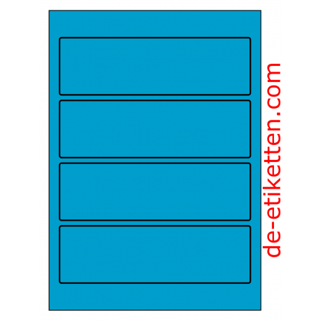 58 x 190 mm 100 Blatt p. Karton BLAU