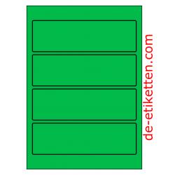 58 x 190 mm 100 Blatt p. Karton GRÜN