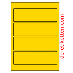 58 x 190 mm 100 Blatt p. Karton GELB