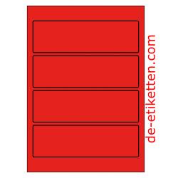 58 x 190 mm 100 Blatt p. Karton ROT