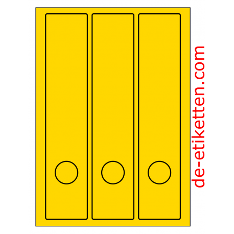 58 x 280 mm 100 Blatt p. Karton GELB