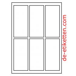 61 x 134 mm 200 Blatt p. Karton
