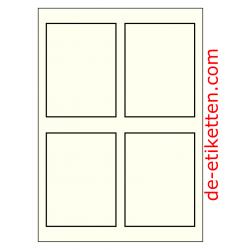90 x 120 mm Elfenbein mit Spezialrand 100 Blatt p. Karton