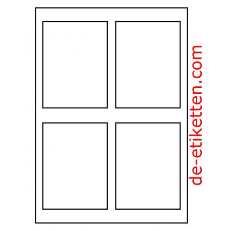 100 Blatt p. Karton Mat Transparent vinyl 90 x 120 mm