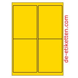 99 x 136 mm 100 Blatt p. Karton GELB