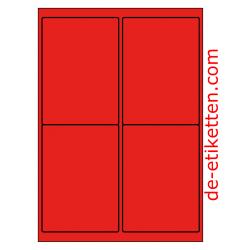 99 x 136 mm 100 Blatt p. Karton ROT
