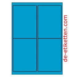 99 x 136 mm 100 Blatt p. Karton BLAU