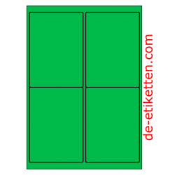 99 x 136 mm 100 Blatt p. Karton GRÜN