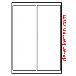 99 x 136 mm 200 Blatt p. Karton P.E.