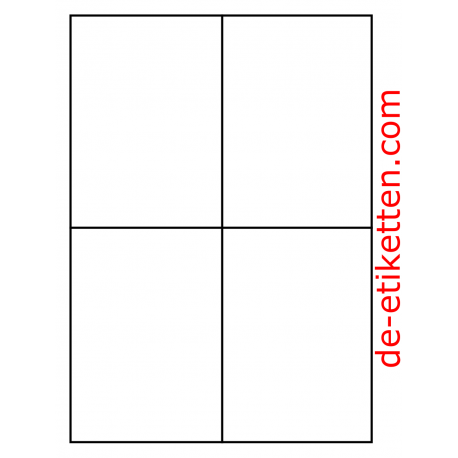 105 x 148 mm 4 pro Blatt 1.000 Blatt p. Karton
