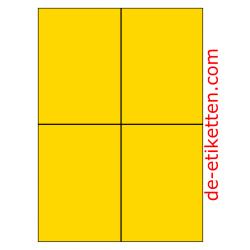 105 x 148 mm 100 Blatt p. Karton GELB