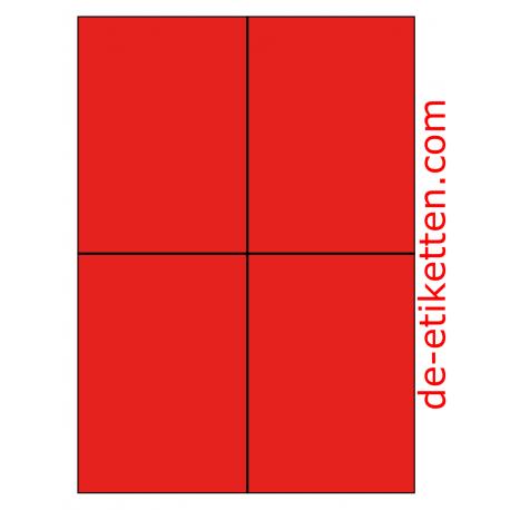 105 x 148 mm 100 Blatt p. Karton ROT