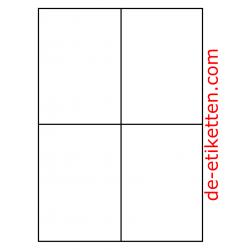 105 x 148 mm 200 Blatt p. Karton Ablösbare Etiketten