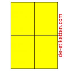 105 x 148 mm 100 Blatt p. karton GELB FLUOR