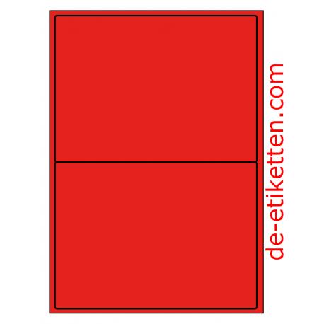 199 x 143 mm 100 Blatt p. Karton ROT