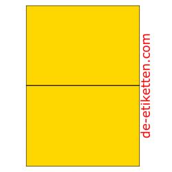 210 x 148 mm 100 Blatt p. Karton GELB