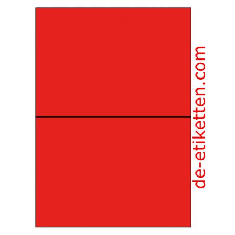 210 x 148 mm 100 Blatt p. Karton ROT