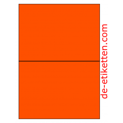 210 x 148 mm 100 Blatt p. Karton ORANGE FLUOR