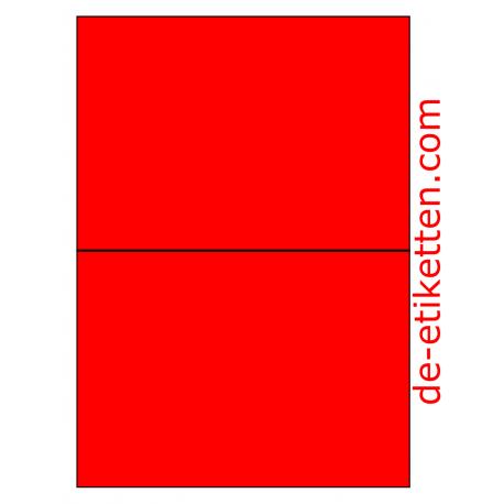 210 x 148 mm 100 Blatt p. Karton ROT FLUOR