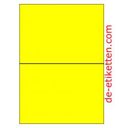 210 x 148 mm 100 Blatt p. karton GELB FLUOR