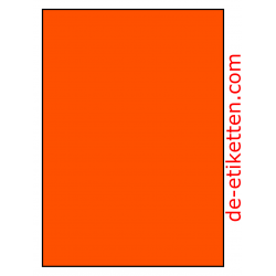 210 x 296 mm 100 Blatt p. karton ORANGE FLUOR
