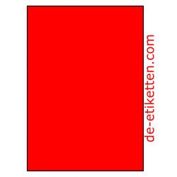 210 x 296 mm 100 Blatt p. karton ROT FLUOR
