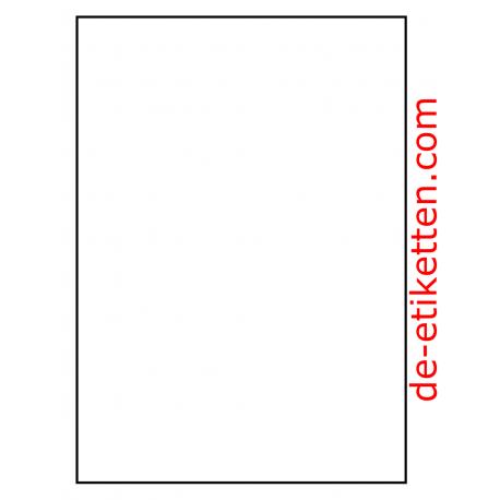 100 Blatt p. Karton Mat Transparent vinyl 210 x 296 mm