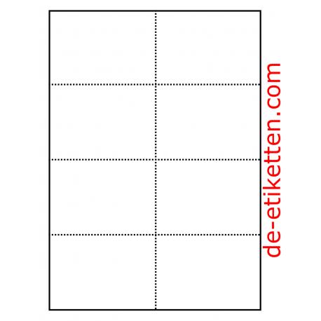 Karten mit Micro-perforation für Badges 105 x 74 mm 100 Blatt p. Karton