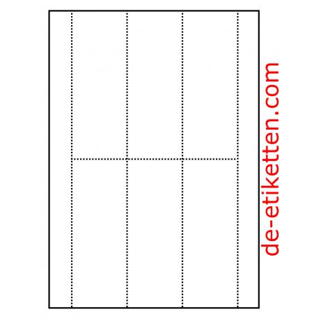 Ordner Karten 55 x 148 mm 100 Blatt p. Karton a 6 Karten