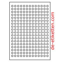 10 mm Runde 100 Blatt p. Karton 234 p. Blatt