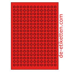 10 mm Runde 100 Blatt p. Karton 234 p. Blatt ROT