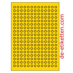 10 mm Runde 100 Blatt p. Karton 234 p. Blatt GELB