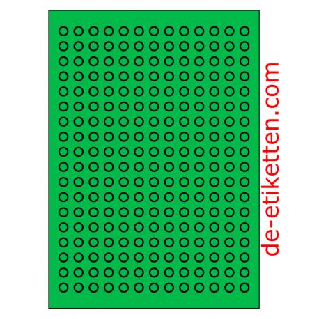 10 mm Runde 100 Blatt p. Karton 234 p. Blatt GRUN