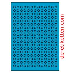 10 mm Runde 100 Blatt p. Karton 234 p. Blatt BLAU