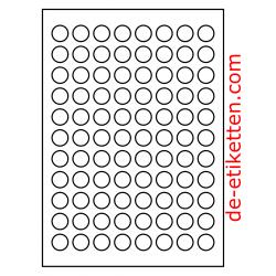 20 mm Runde 100 Blatt p. Karton