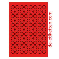20 mm Runde 100 Blatt p. Karton ROT
